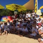 Remise des prix sur la plage des enfants des Portes en Ré